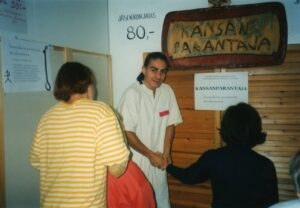 Petri healing at the health exhibition in 1994